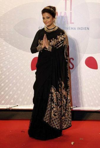 Aishwarya Rai at the Bombay Talkies gala that celebrates 100 years of Indian Cinema in a Sabyasachi sari with an Elie Saab lehenga. Source: Zee News