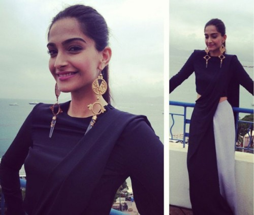 Bollywood's own fashionista, Sonam Kapoor, dressed in Huemn and Suhani Pittie and styled by her own sister Rhea Kapoor.