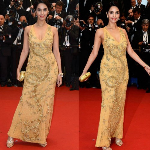 Bollywood beauty Mallika Sherawat was also spotted at the 66th Cannes Film Festival on Day 1. Mallika was seen in a gold beaded Pucci gown at The Great Gatsby premiere. - See more at: http://static.indianexpress.com/pic/uploadedImages/bigImages/B_Id_386109_mallika-sherawat-cannes.jpg