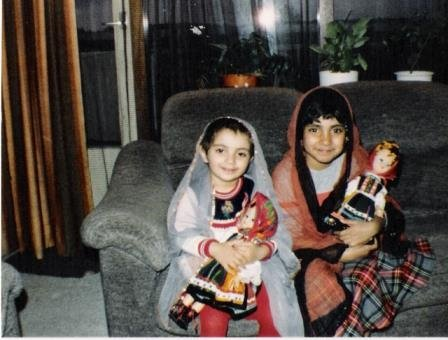 Playing with dolls and dressing up in Ammi's veils was our favorite pastime!