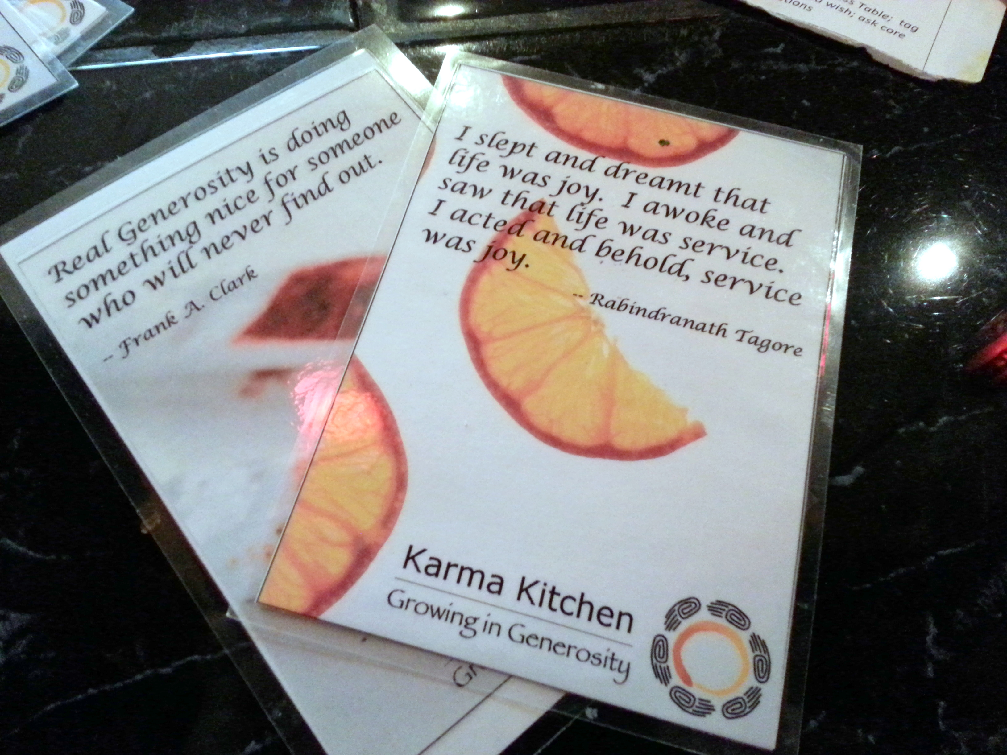 Karma Kitchen - Growing in Generosity
