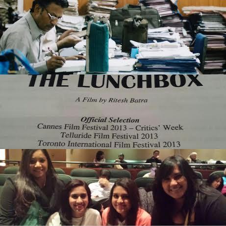 """BGs Rakhi Chadha, Vaidehi Mujumdar, Kamini Ramdeen and Keertana Sastry attended the press screening of """"The Lunchbox"""" on Feb. 18 in NYC. (Photo Source: Kamini Ramdeen)"""