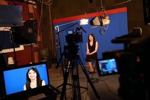 Nisha Mathur behind the scene filming Shades of Shakti.