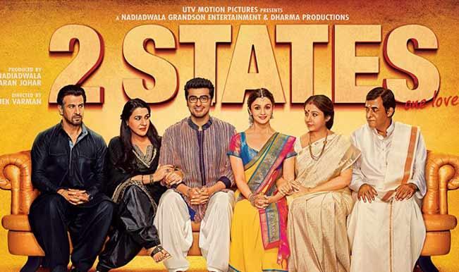 2 states poster, movie, bollywood, alia bhatt, arjun kapoor