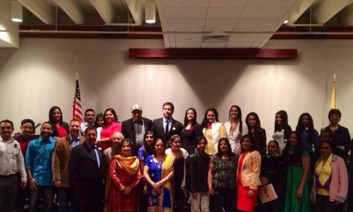 The panelist, guests and the SCANJ gather at the Appreciating Women event. (Photo provided by Rakhi Chadha).