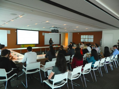 Sheena Pradhan speaks at a corporate wellness presentation I made for Standard Chartered Bank in New York City. Image Provided by Sheena Pradhan
