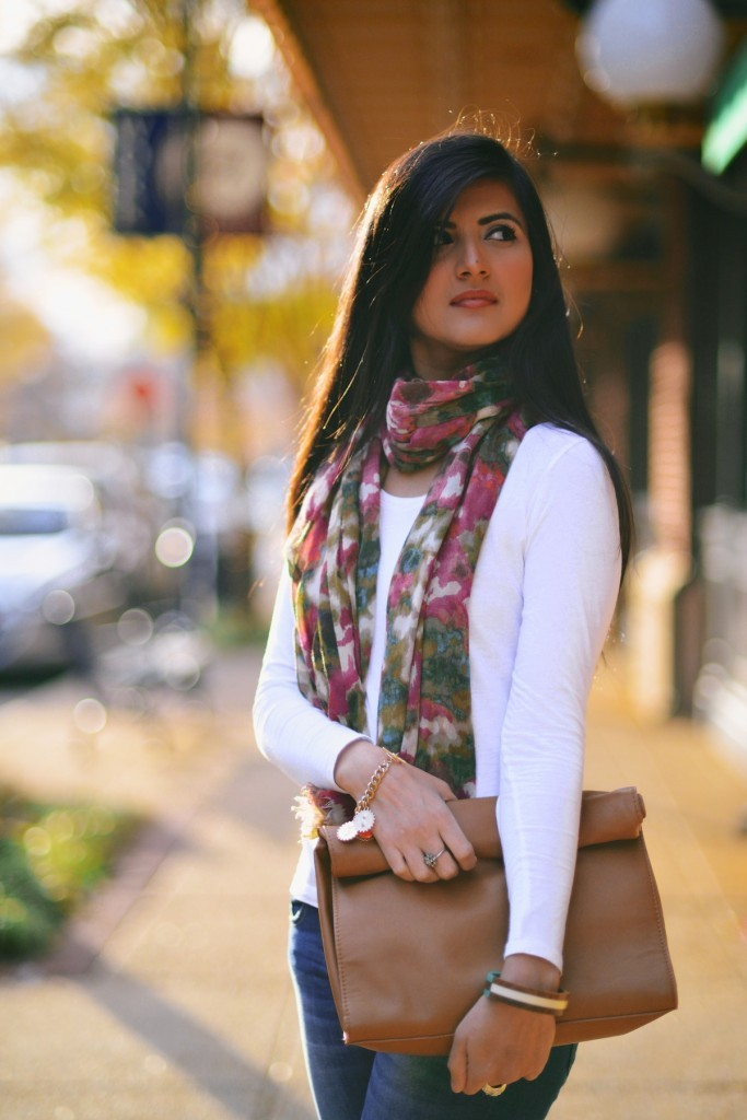 Faded-Blue-Denim-Jeans-with-FLoral-Scarf--683x1024