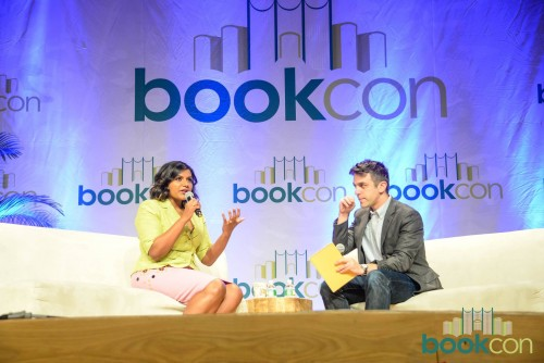 Mindy Kaling in conversation with actor/writer BJ Novak at BookCon. [Photo Source: Facebook.com/BookCon]