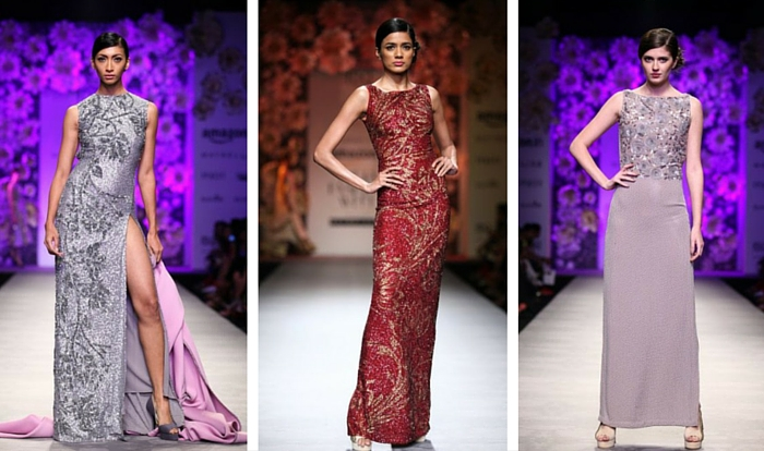 [Siddhartha Tytler's gowns from his Amazon India's Fashion Week Spring/Summer 2016 Collection | Photo Source: Cosmopolitan India]
