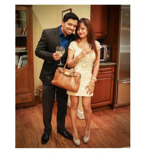 Harshad and his wife Sayani