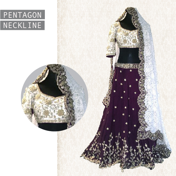 pentagon-neckline