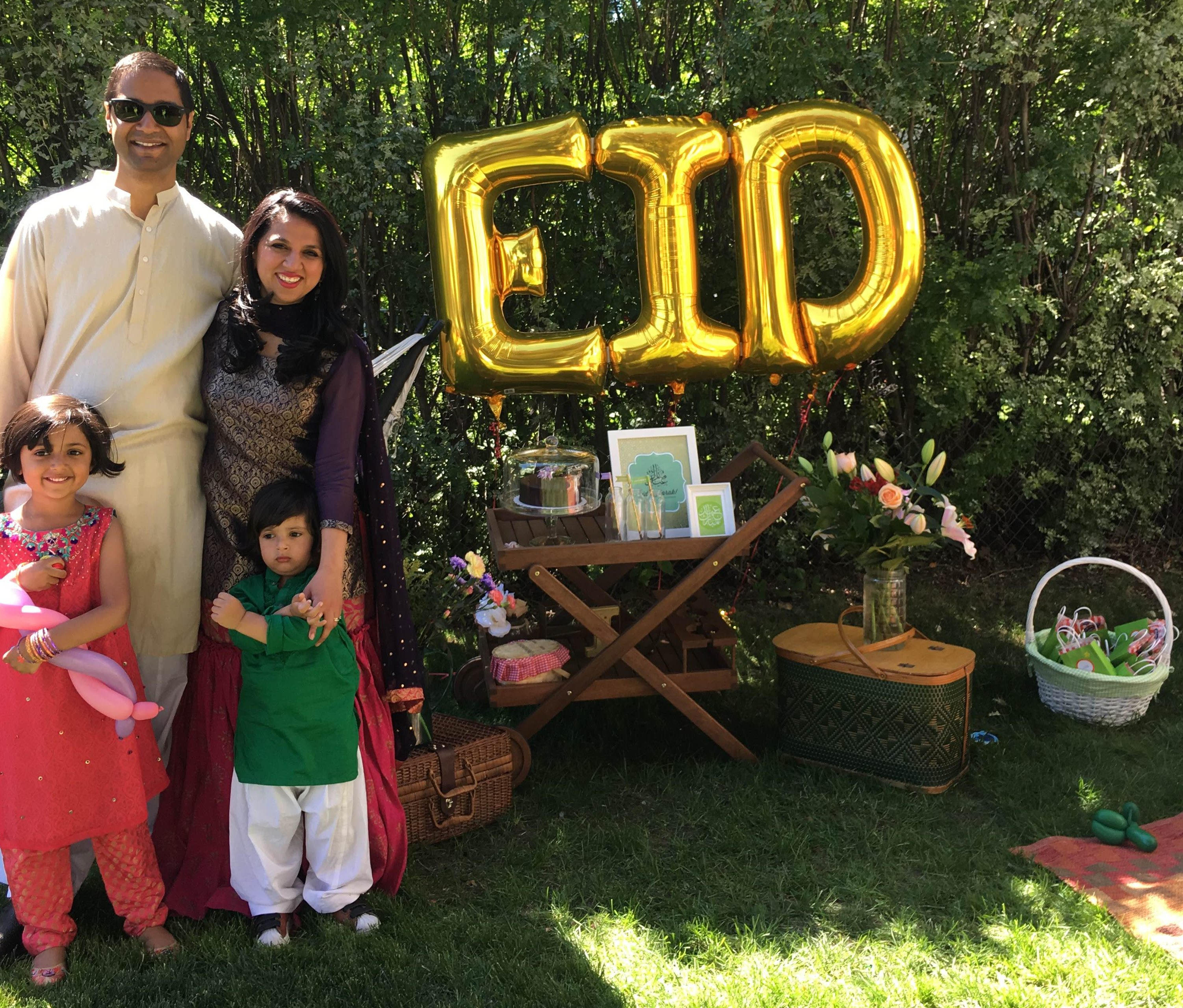 Eid Party Family Picture Urdu Mom