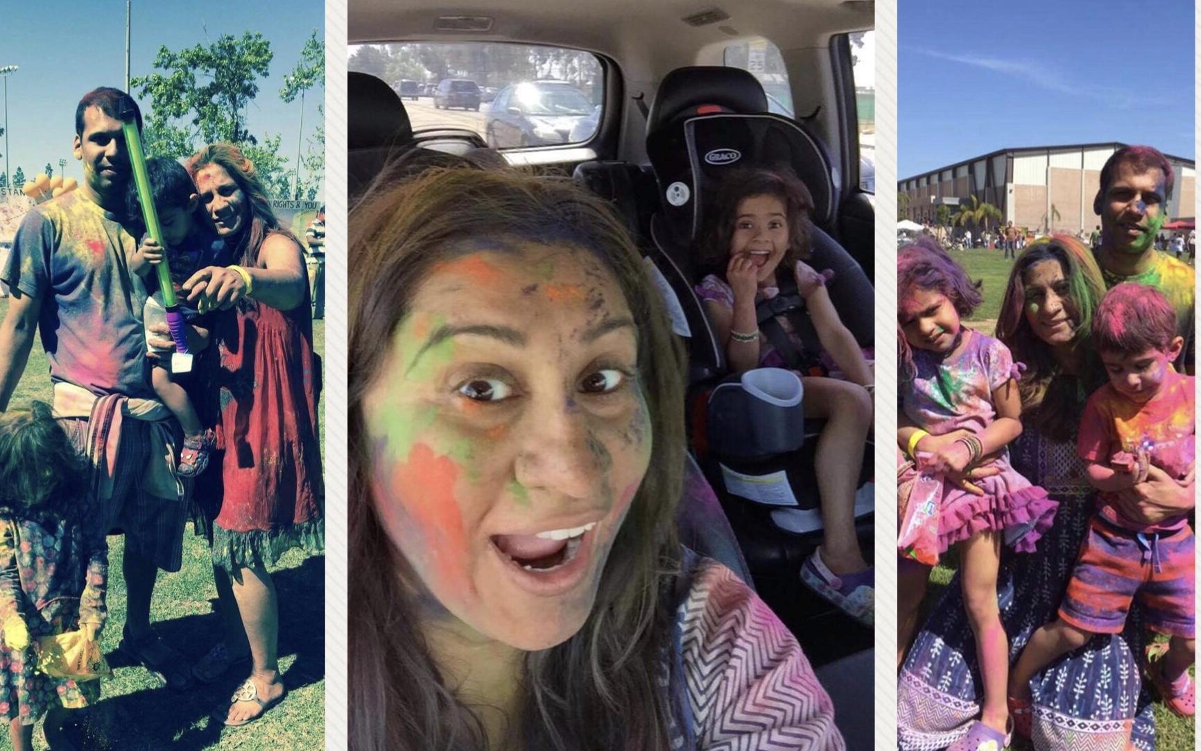 Holi with kids