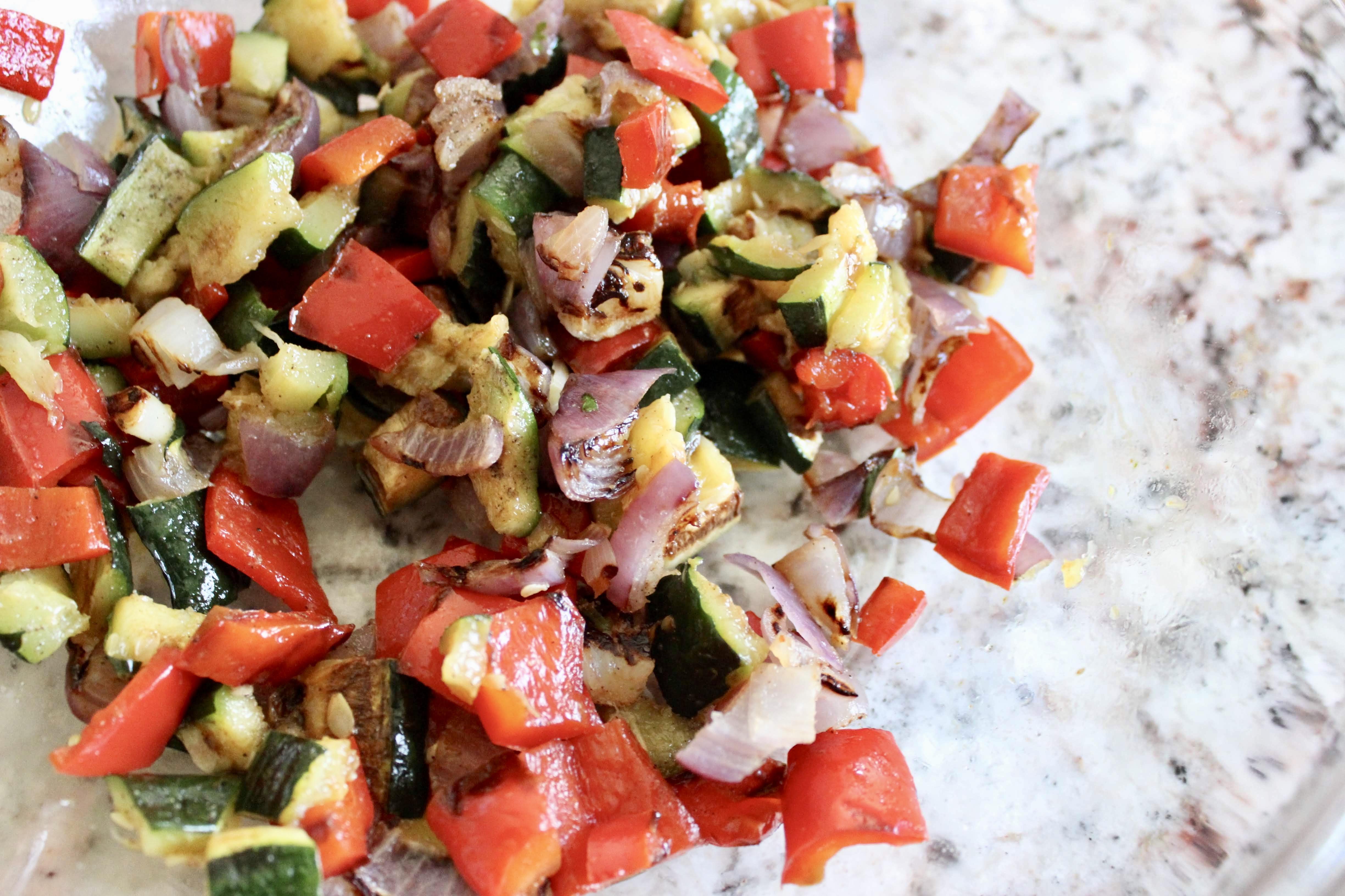 Grilled Vegetable Chimichurri Pasta Salad