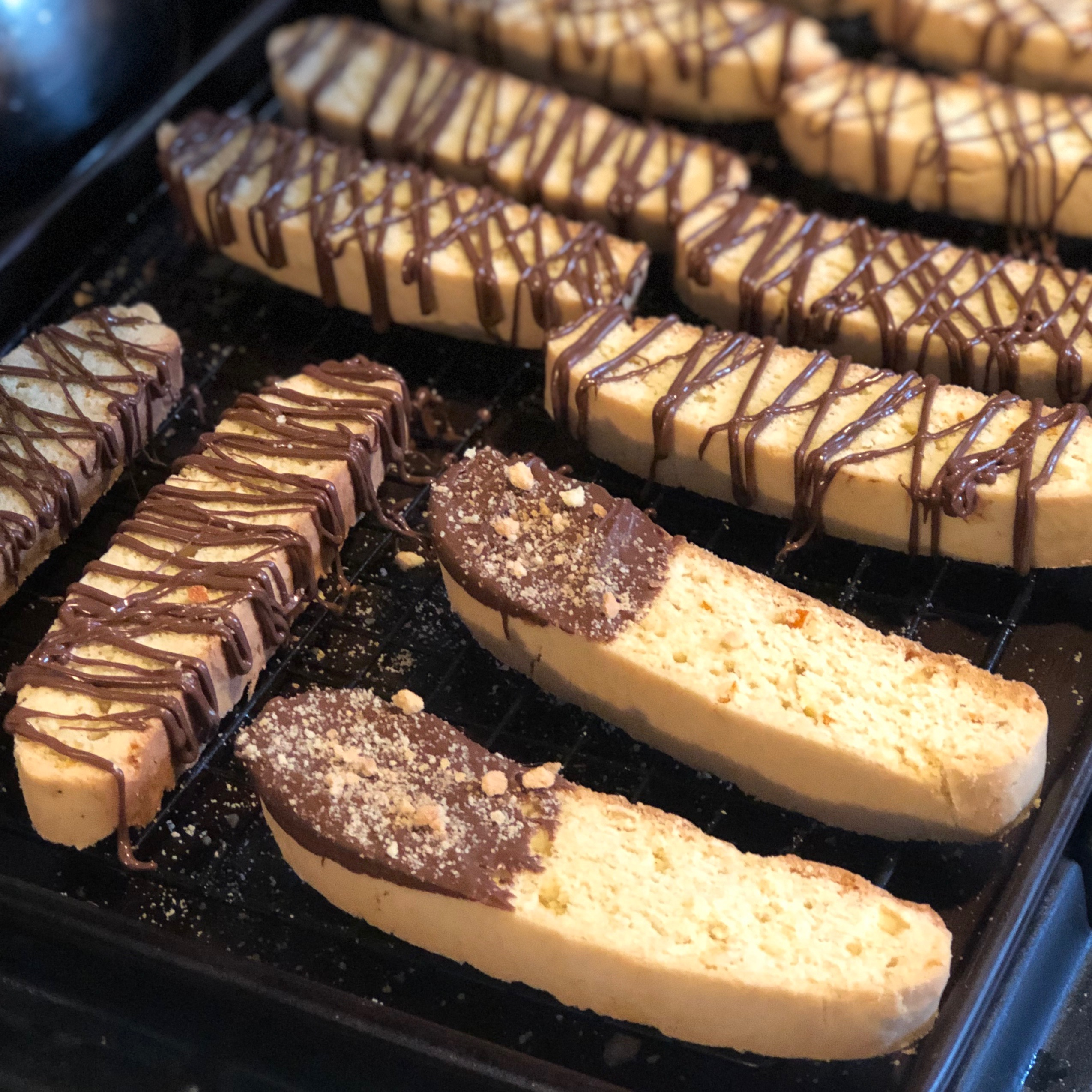 A Mother's Day Treat: Citrus Rose Biscotti with Orange Nutella Drizzle