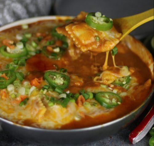 A Fusion Favorite: Creamy Enchilada Ravioli