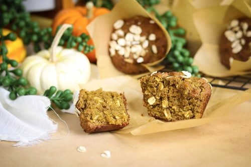 Pumpkin Season Special: Pumpkin Brown Sugar Oat Muffins