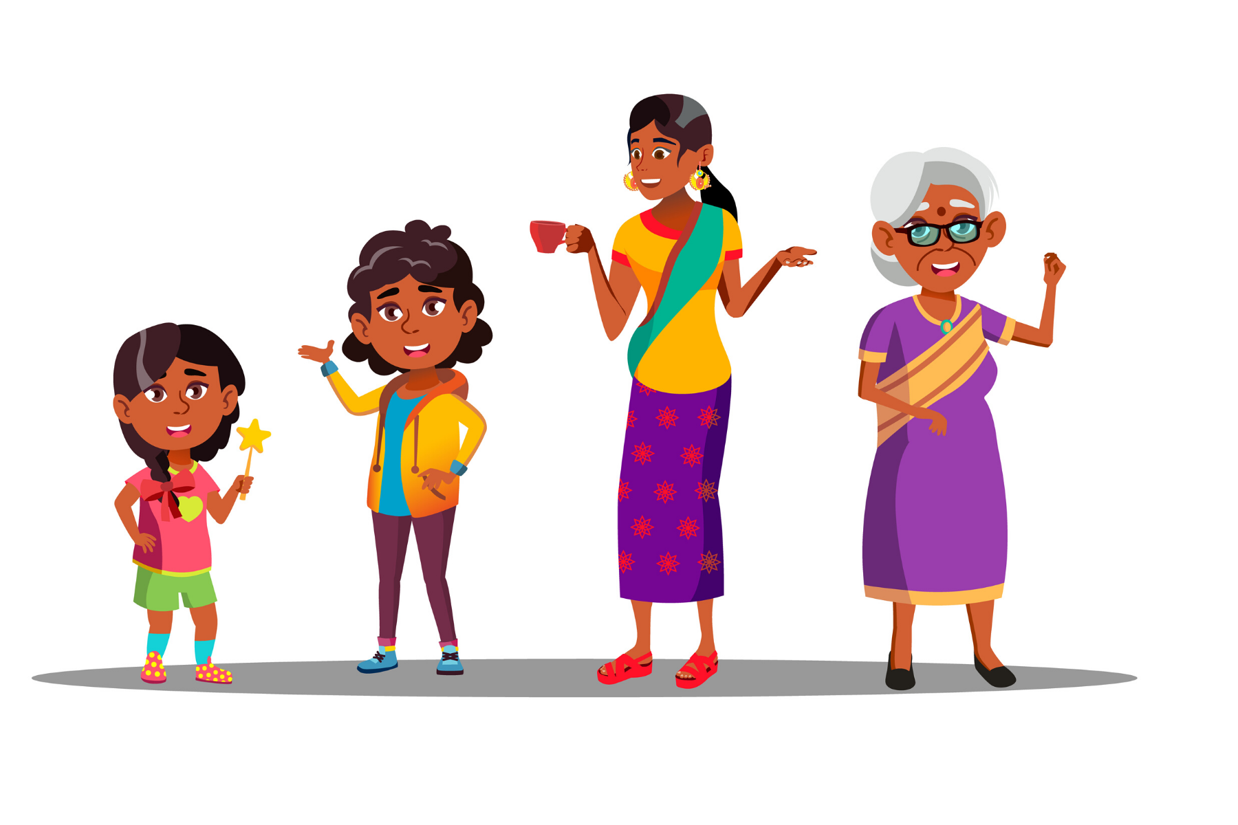 Indian Mother Language Communicate Daughter