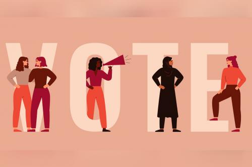 vote photo women